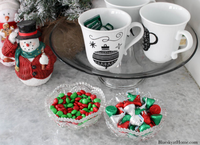 Christmas red and green M & Ms and kisses