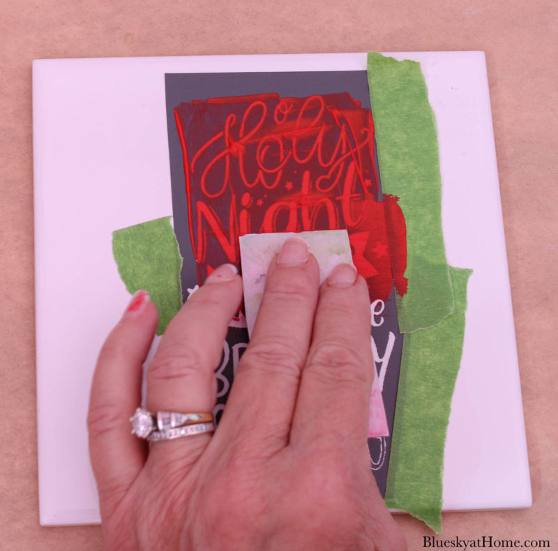 painting stencil with Ceramic paint