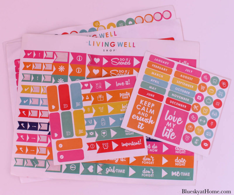 colorful stickers for planners