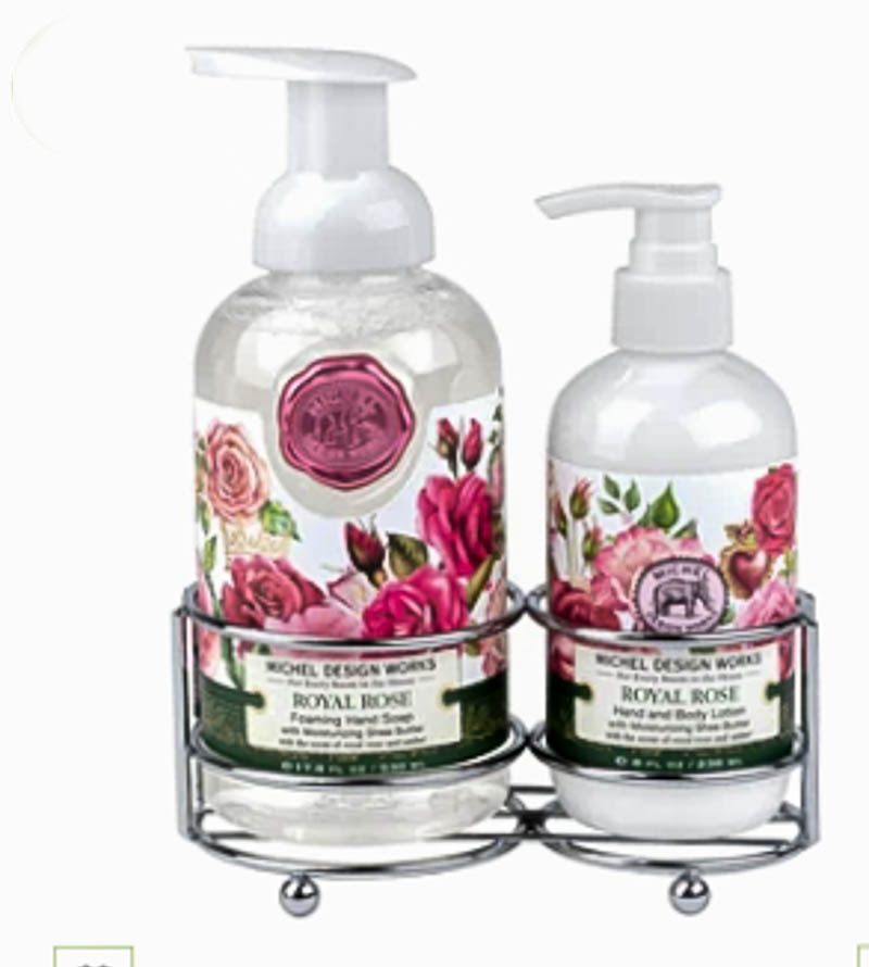 bottles of soap and lotion for Valentine's gift