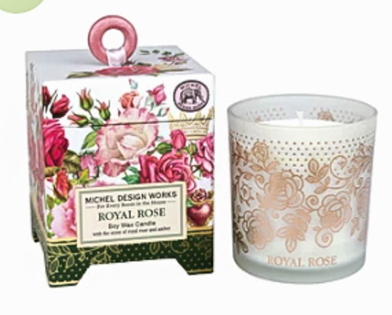 candle and box for Valentine's gift