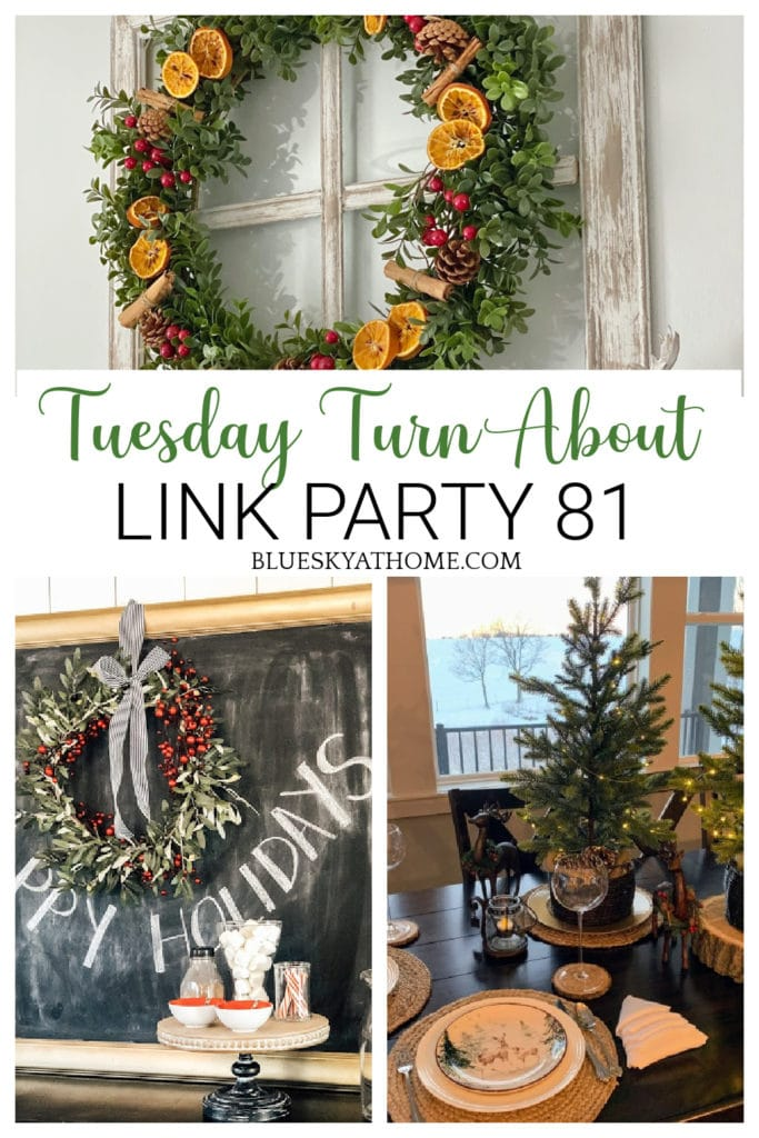 Tuesday Turn About Link Party graphic