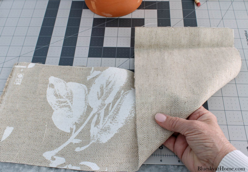 two sides of fabric for clay pots