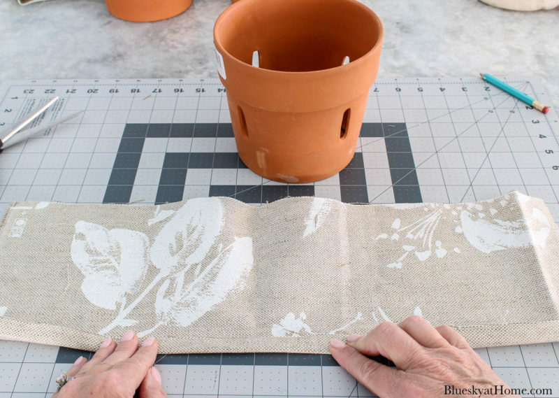 fabrics for covering clay pots