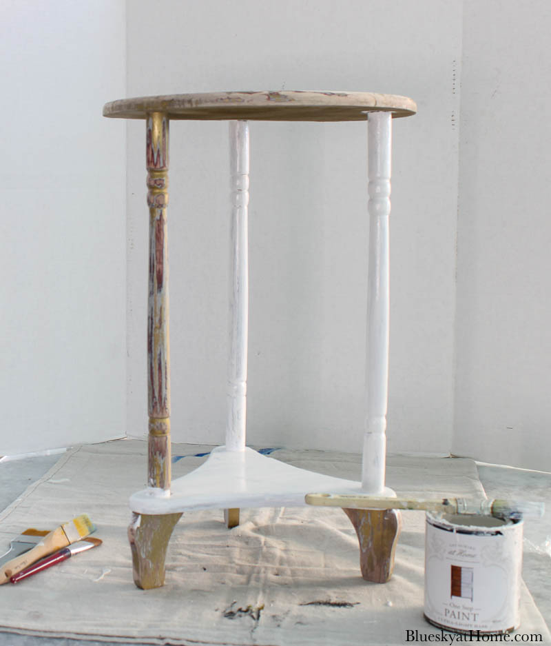painting old table white
