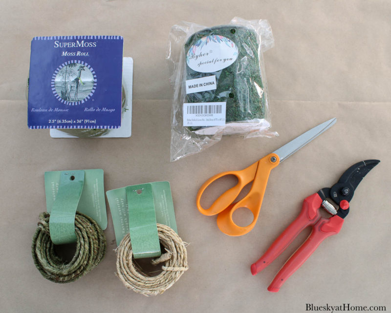 supplies for spring floral wreath