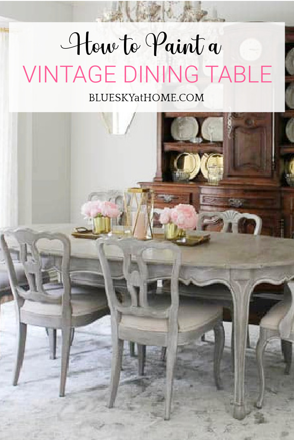 How To Paint A Vintage Dining Table, Vintage Dining Room Sets