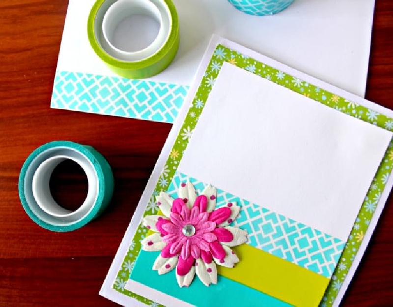 note cards made with washi