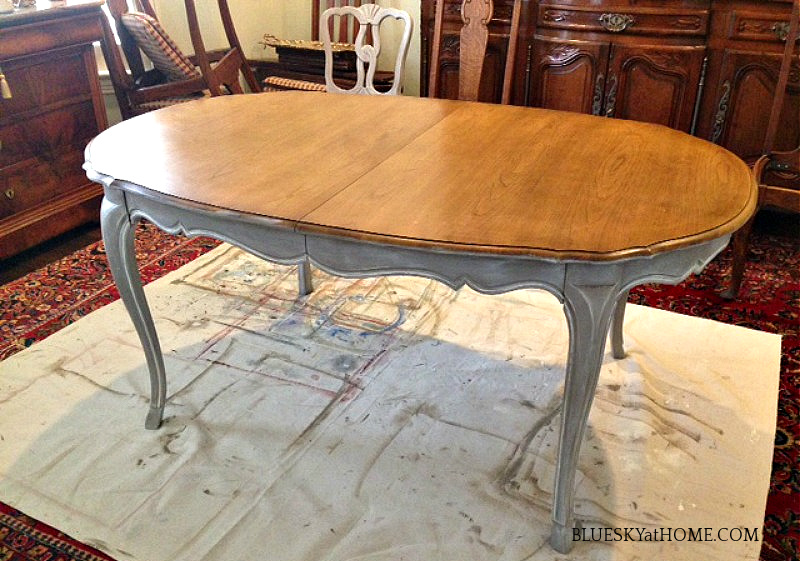 painting vintage dining table