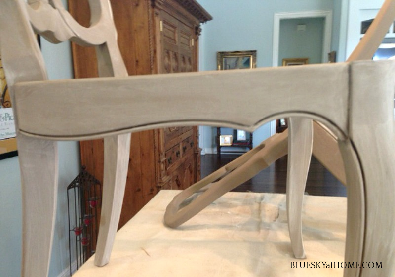 painting dining room chair