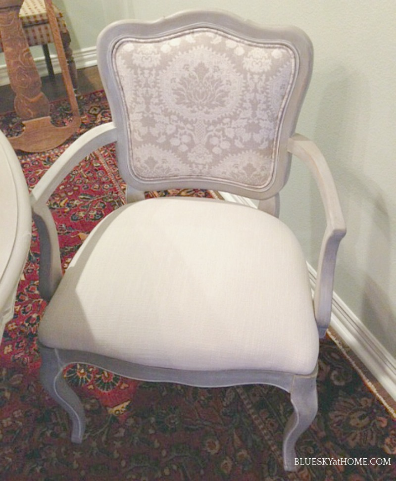 finished dining room chair