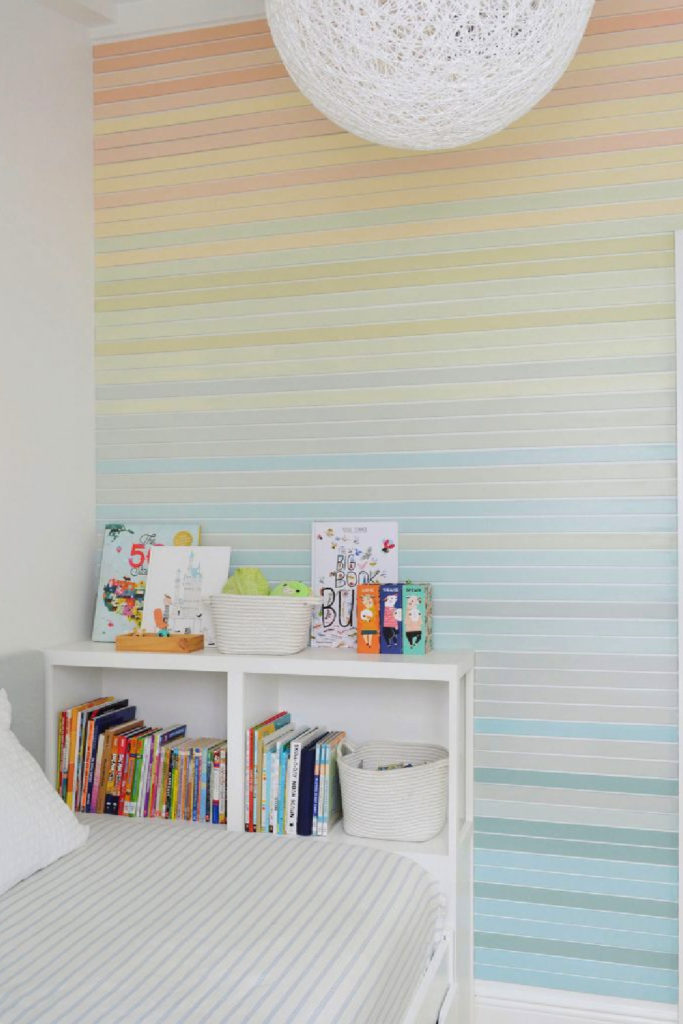 pastel ombre wall treatment