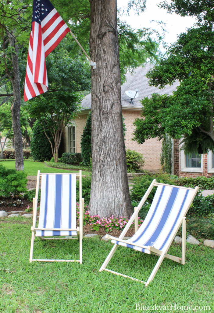 cabana chairs in front front