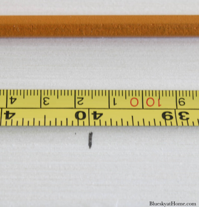 measauring for wood legs for fabric~covered headboard