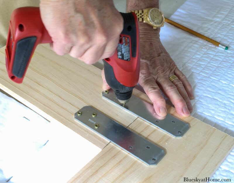 attaching wood legs for fabric~covered headboard