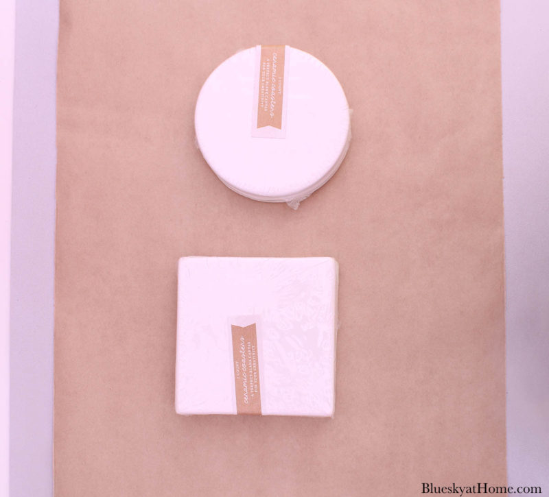 round and square tile coasters