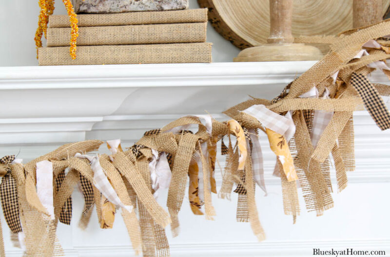 fabric and burlap banner