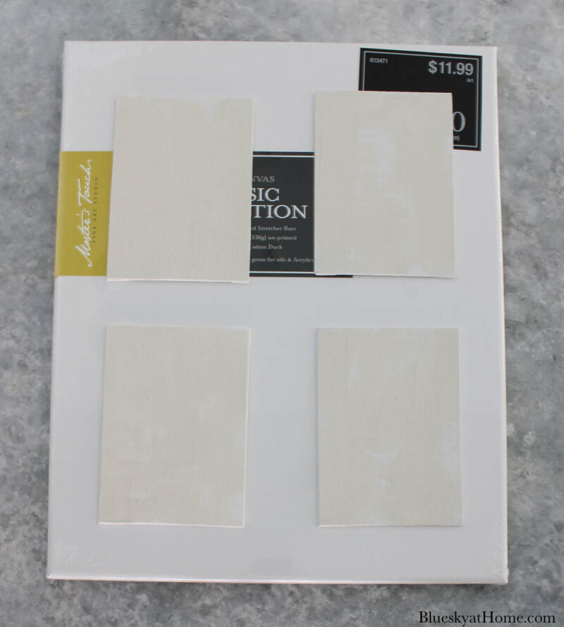 large canvas with 4 small canvases