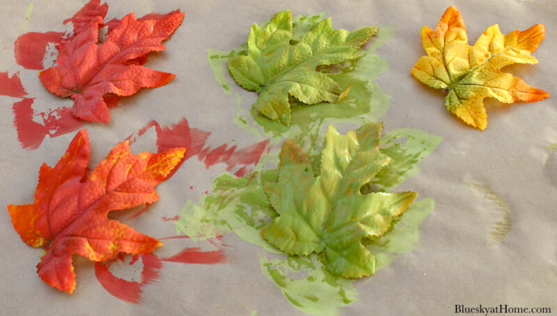 painting maple leaves