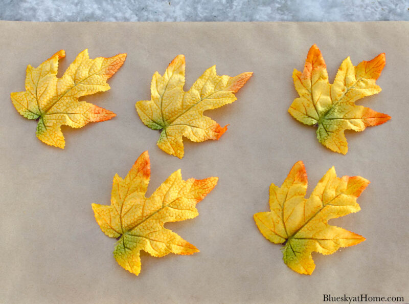 faux fall maple leaves