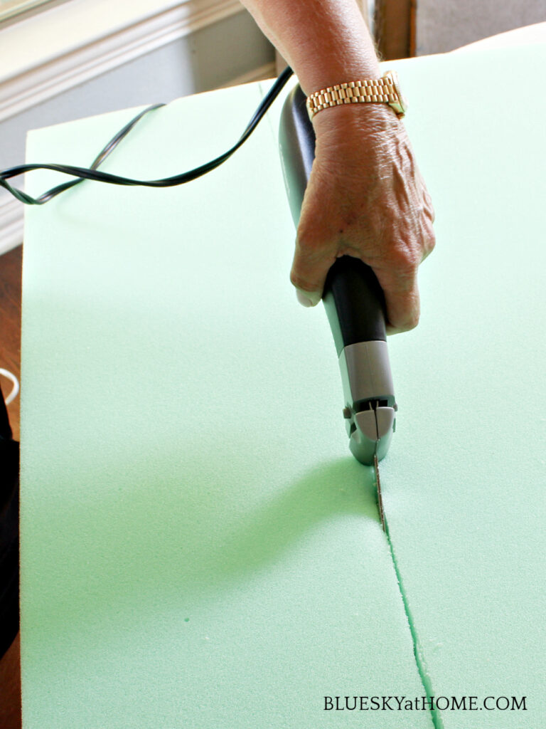 cutting foam with an electric knife