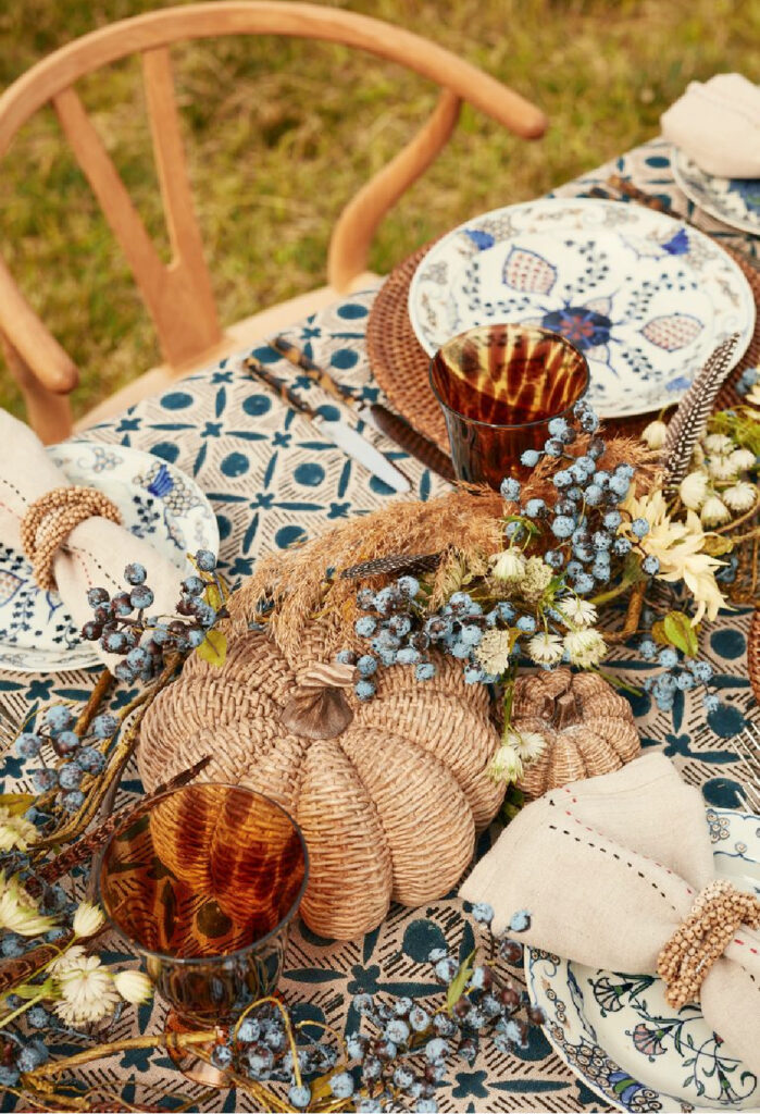 fabulous finds fall harvest tablescape