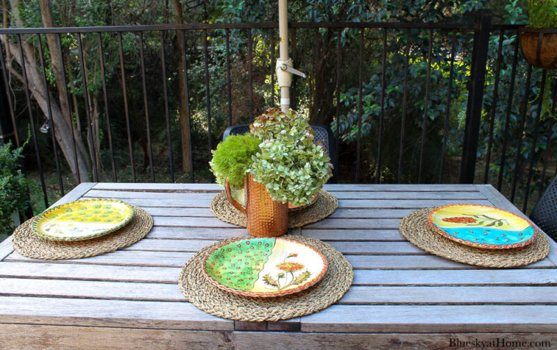 outdoor fall table setting