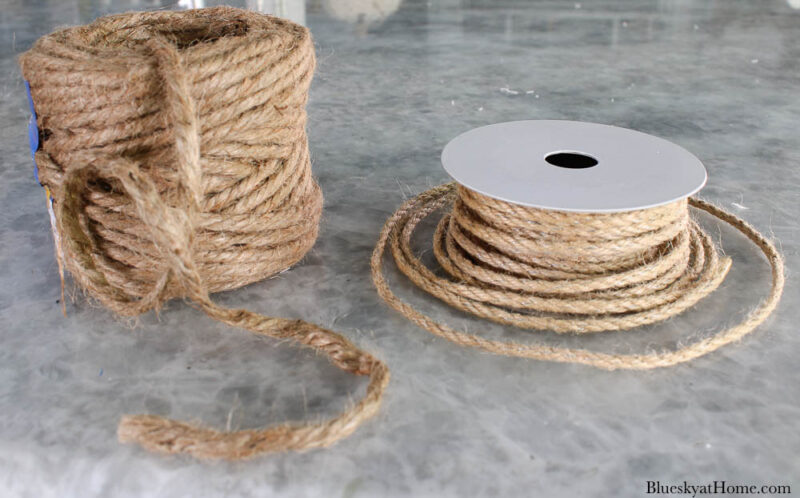 thick and thin jute twine